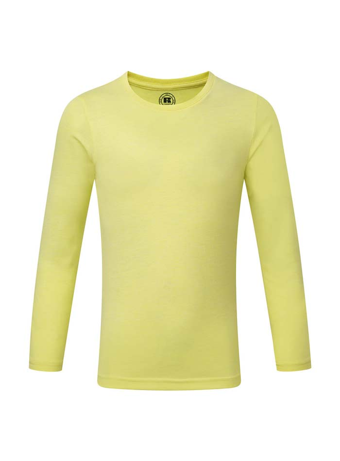 Chlapecké triko s dlouhými rukávy - Žlutá 140 (9-10)