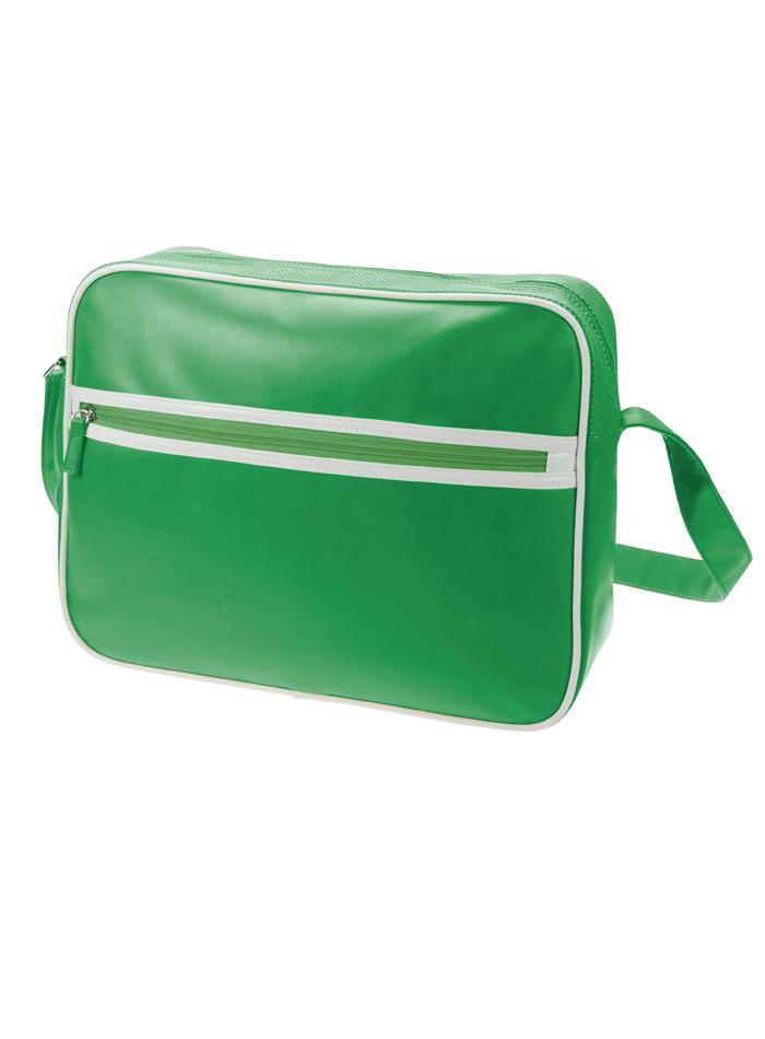Retro taška na zip - zelená univerzal