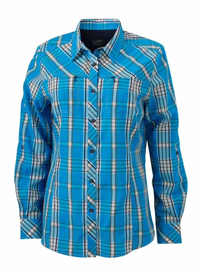 Dámská košile Trekking - Světle a tmavě modrá XS