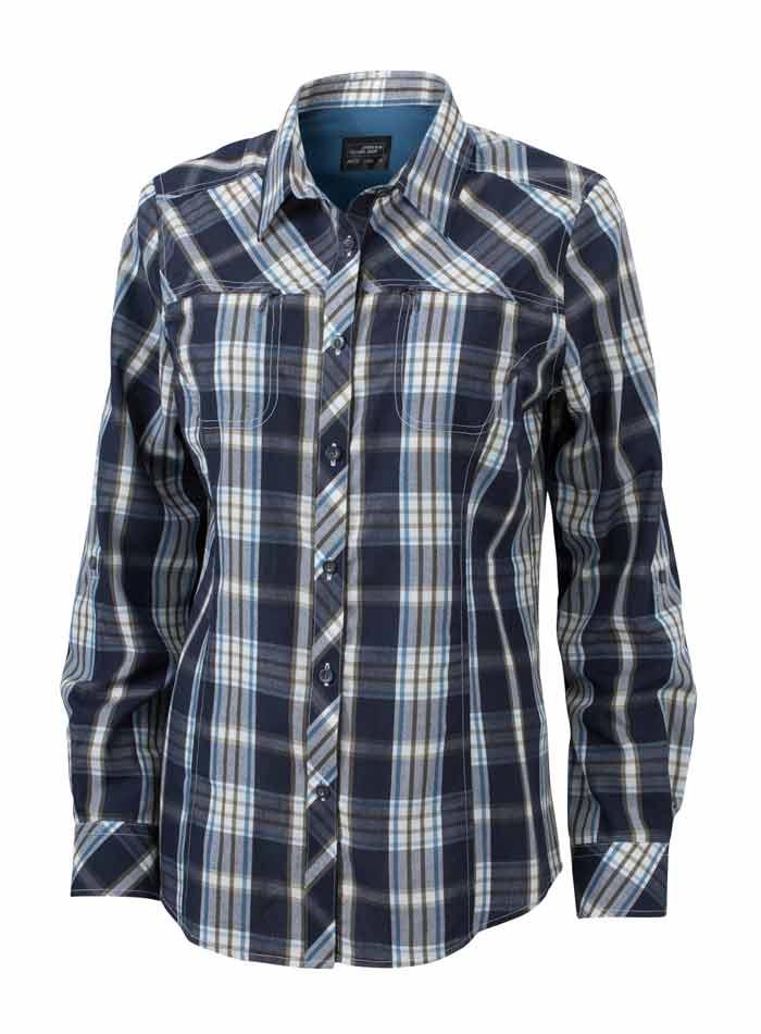 Dámská košile Trekking - Námořnická a modrá XS