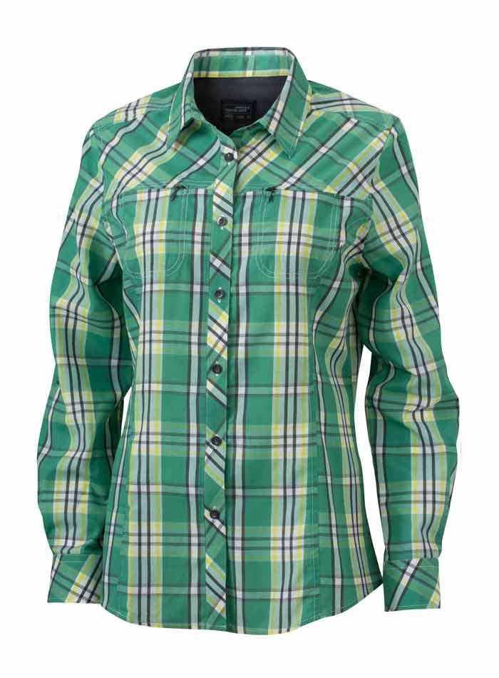 Dámská košile Trekking - Zelená a žlutá XS