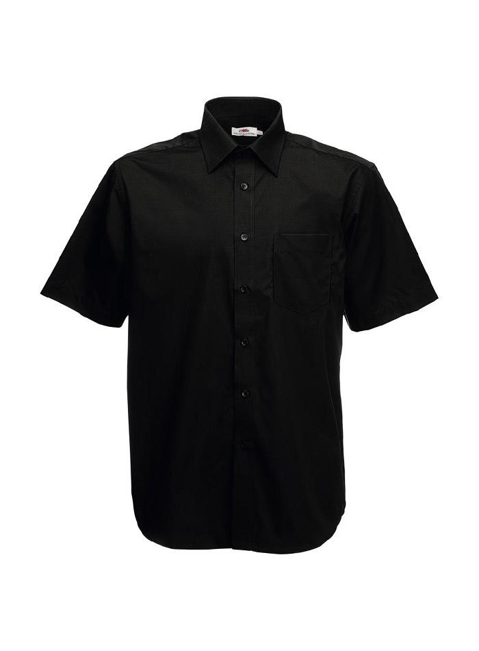 Pánská košile z popelínu - černá S