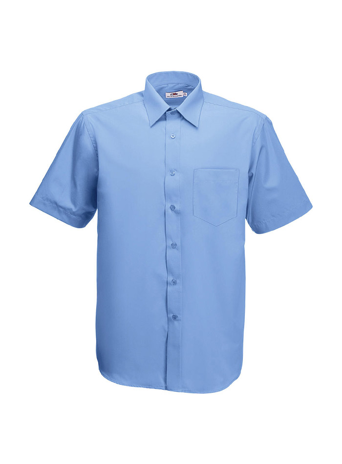 Pánská košile z popelínu - Modrá S