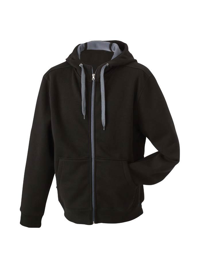 Pánská dvoubarevná mikina - Černá a šedá XXL bd3659271d1