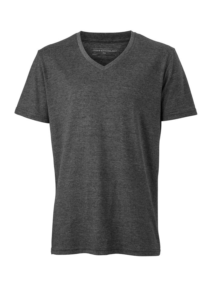 Pánské tričko Melange - černá M