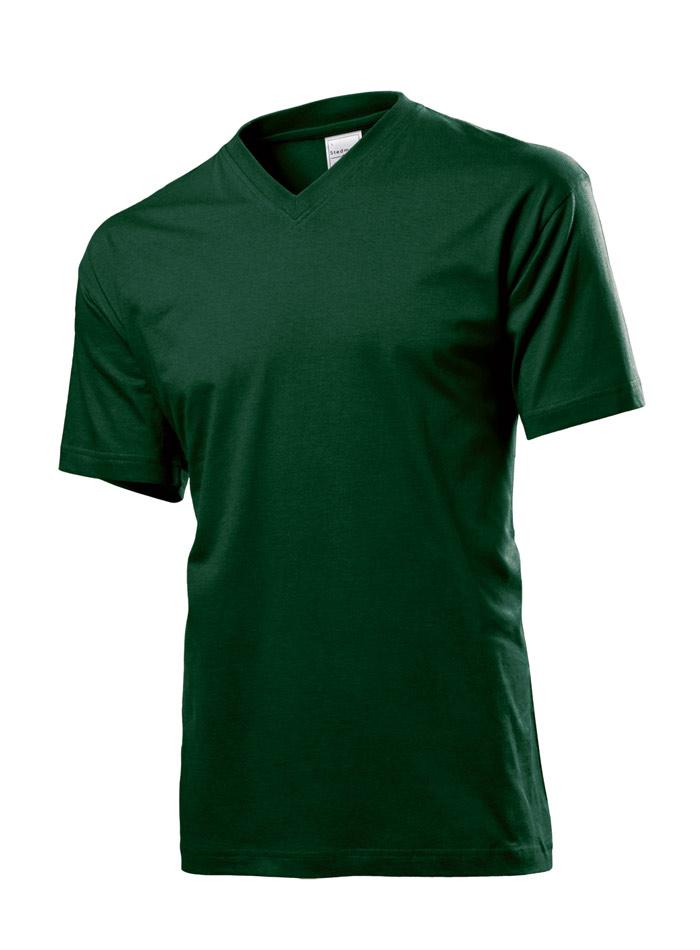 Pánské tričko Classic - Lahvově zelená M