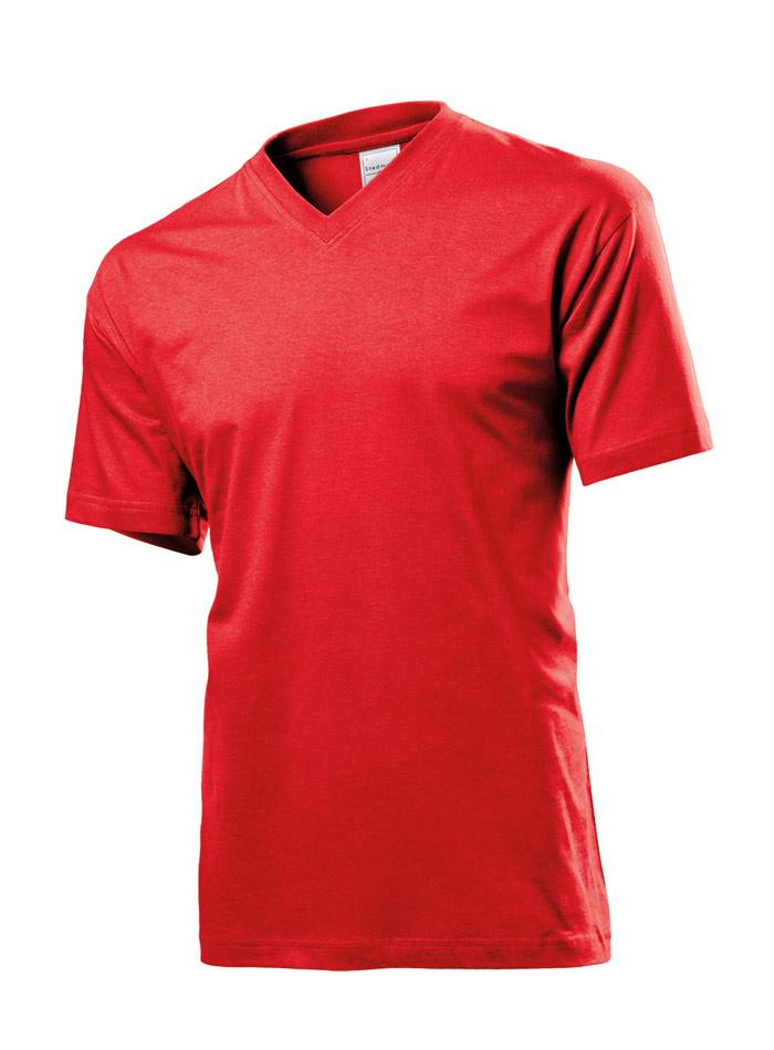 Pánské tričko Classic - Červená XXL