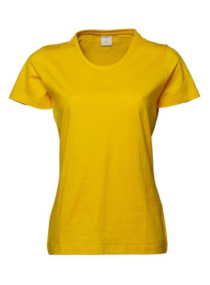 Dámské tričko Basic Tee - Žlutá L