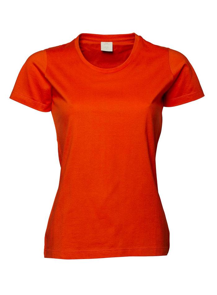 Dámské tričko Basic Tee - Oranžová M
