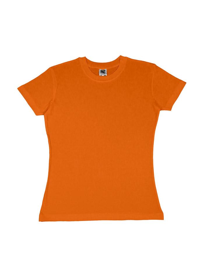 Dámské tričko Heavyweight - Oranžová M
