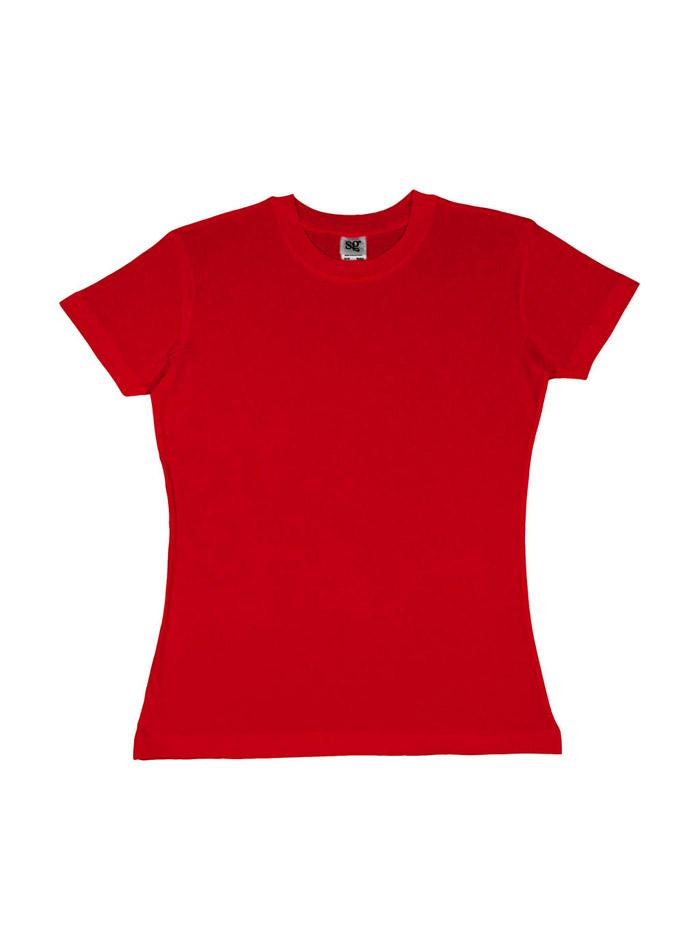 Dámské tričko Heavyweight - Červená S