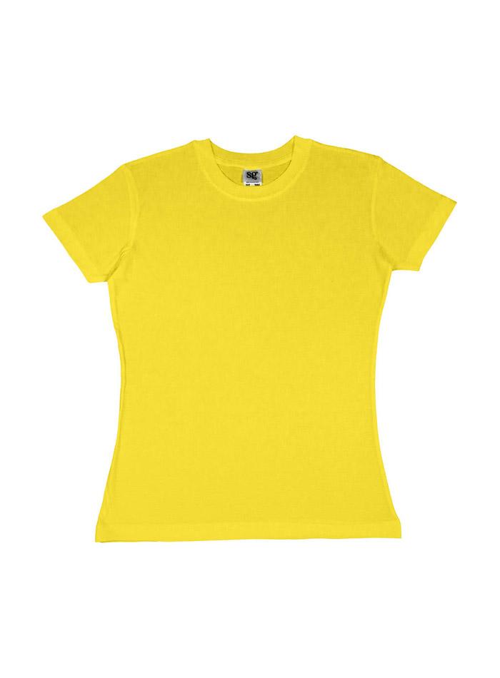 Dámské tričko Heavyweight - Žlutá L
