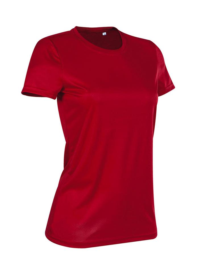Dámské tričko Active Sports - Rudě červená L