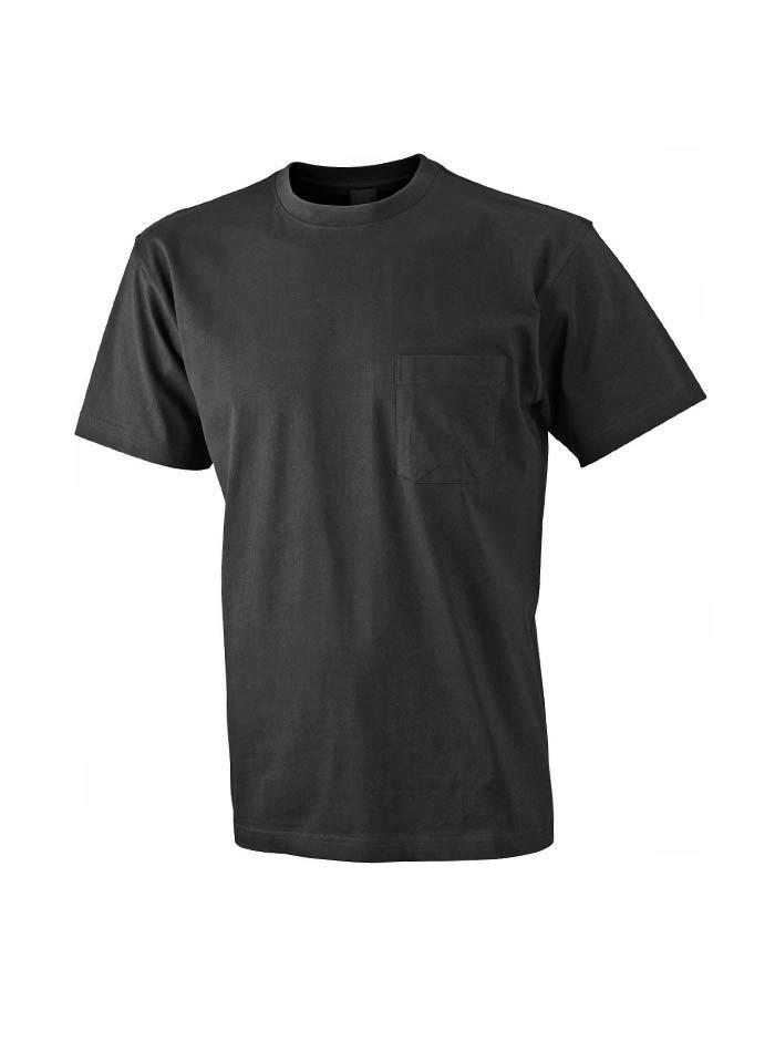 Pánské tričko Pocket - černá M