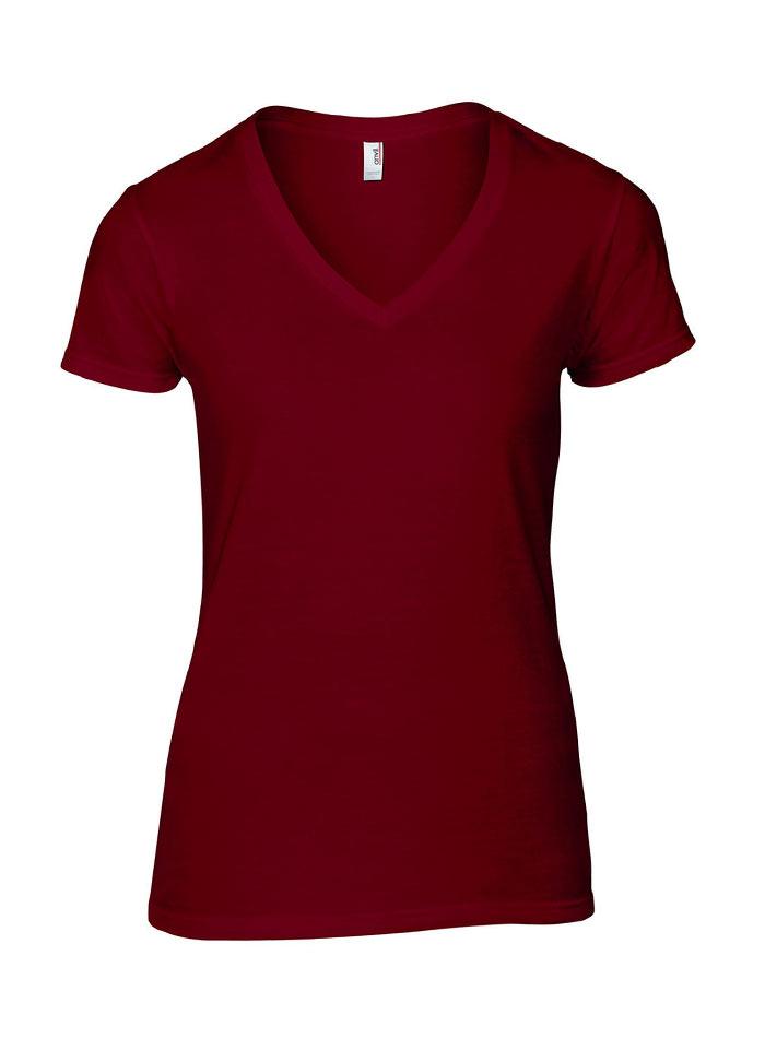 Dámské tričko Fashion - Vínově červená S
