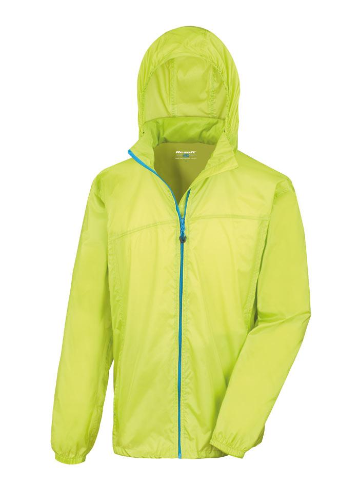 Pánská nepromokavá bunda - Limetková XS