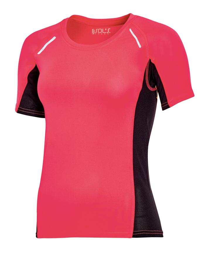 Dámské sportovní tričko Sydney - Neonově růžová S