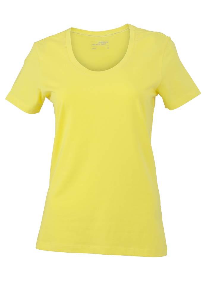 Dámské Stretch tričko - Žlutá L