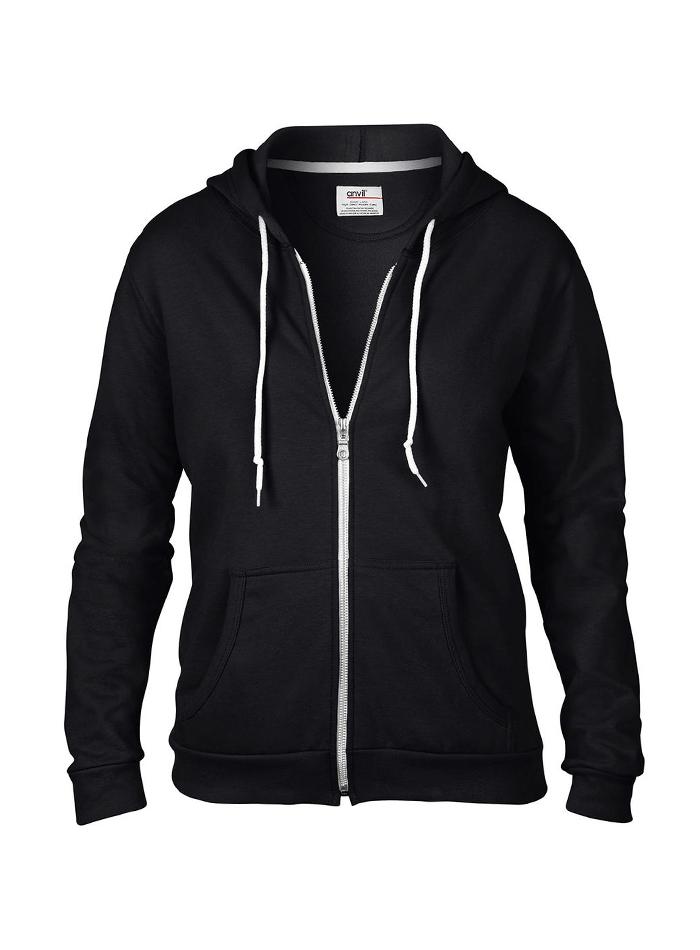 Dámská mikina Fashion s kapucí - černá XL