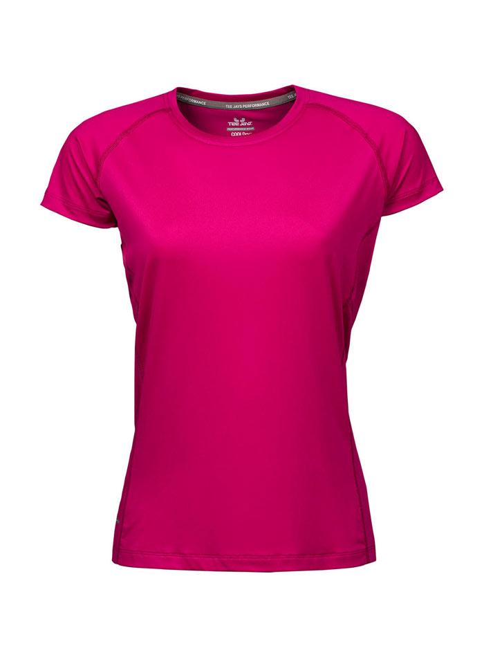 Dámské sportovní tričko cool dry - Fuchsiová XS