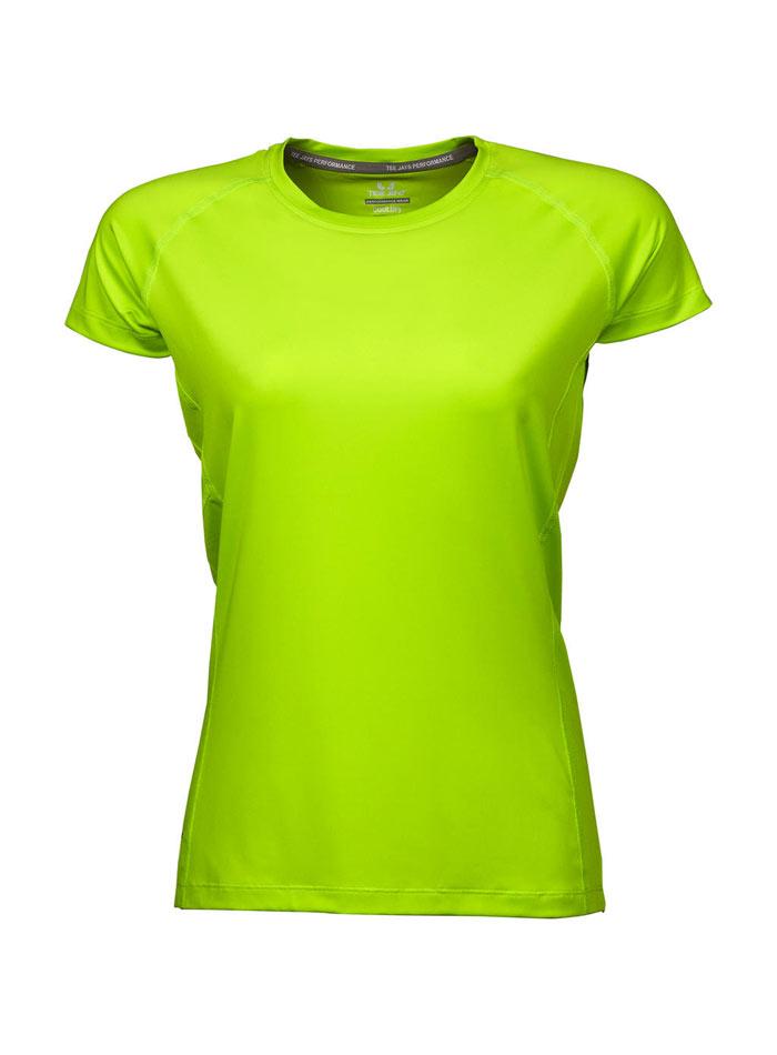 Dámské sportovní tričko cool dry - Neonová XS