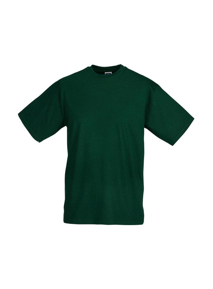 Lehké pánské tričko - Lahvově zelená S