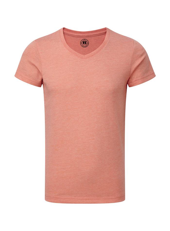 Chlapecké tričko HD V-výstřih - Korálová 140 (9-10)