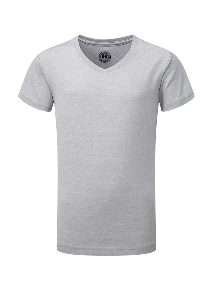 Chlapecké tričko HD V-výstřih - Stříbrná 140 (9-10)