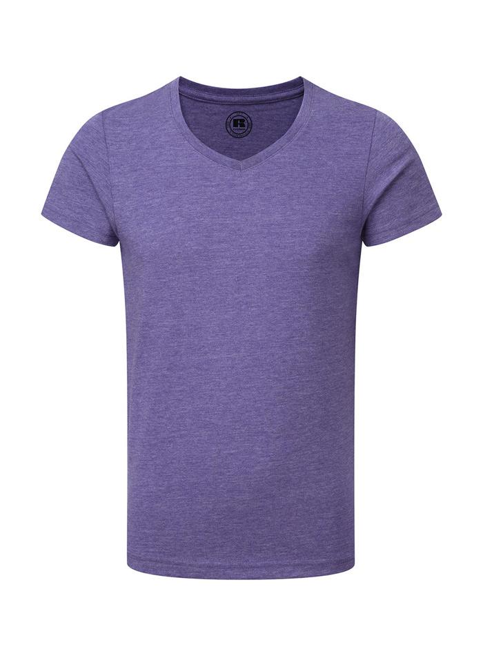 Chlapecké tričko HD V-výstřih - fialová 140 (9-10)