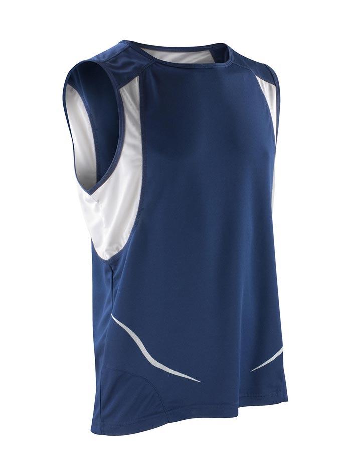 Pánské tílko Sport Athletic - Tmavě modrá a bílá L