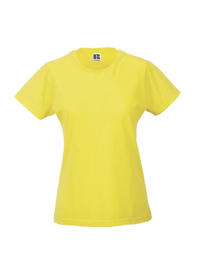 Dámské tričko Slim - Žlutá L