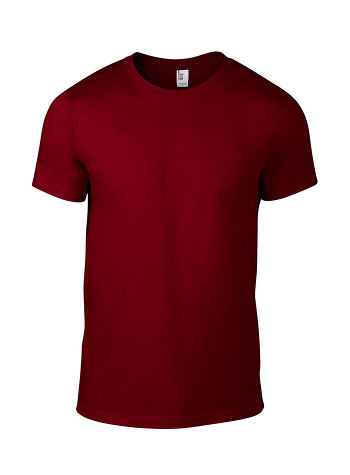 Přiléhavé tričko Fashion - Vínově červená M