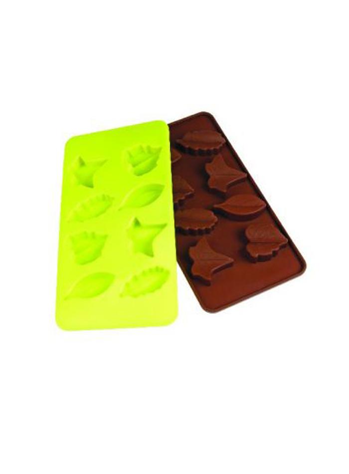Sada silikonových forem na čokoládu - Zelená a hnědá univerzal