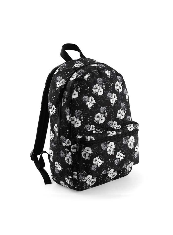 Batoh Graphic - Černobílé květy univerzal