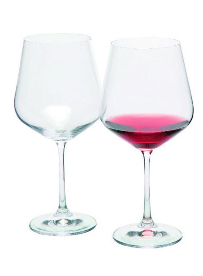 Sada sklenic na červené víno - Transparentní univerzal