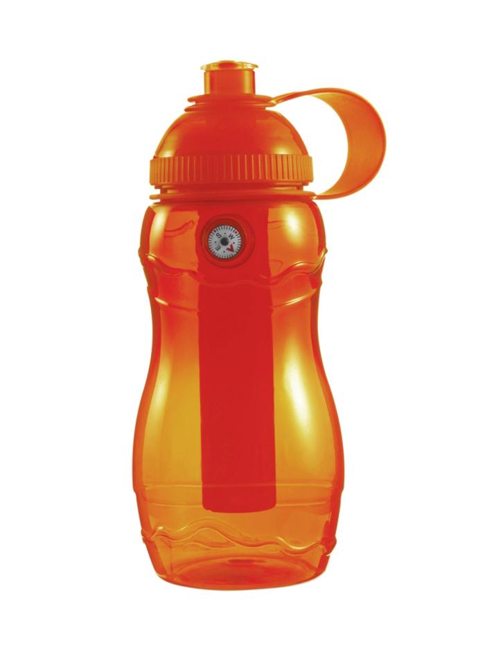 Plastová láhev s kompasem - Oranžová univerzal