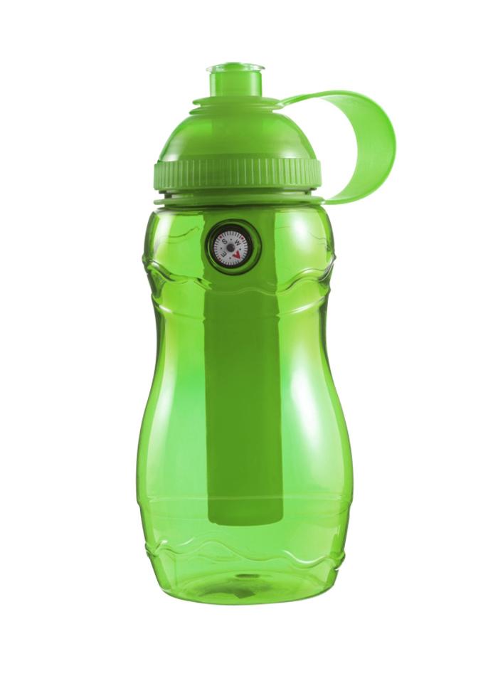 Plastová láhev s kompasem - jablíčkově zelená univerzal