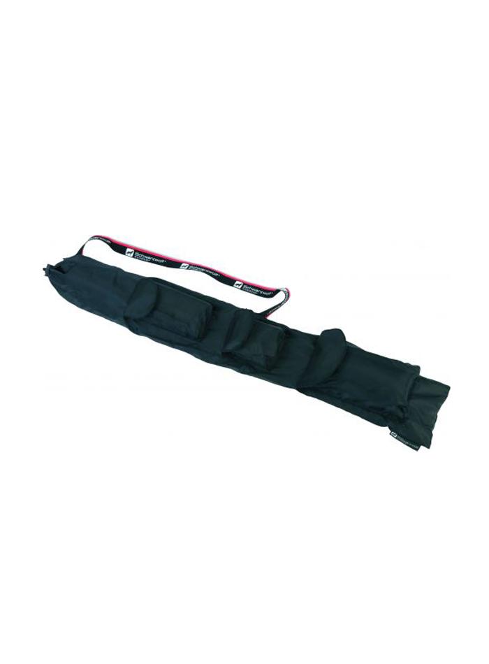 Trekingová sada 2x hůl, šátek, krokoměr a ručník - černá univerzal