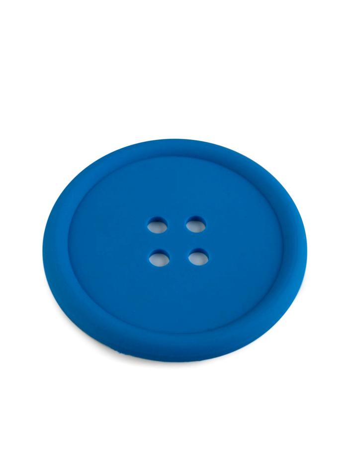 Silikonová podložka knoflík - Královská modrá univerzal