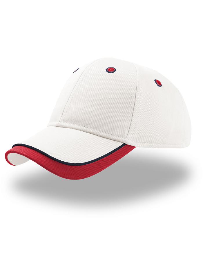 Dětská dvoubarevná kšiltovka - Bílá/červená univerzal