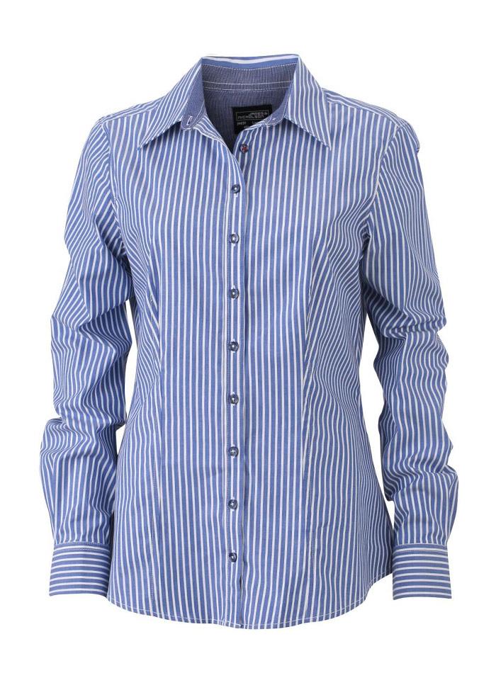Dámská pruhovaná košile - Modrá XS