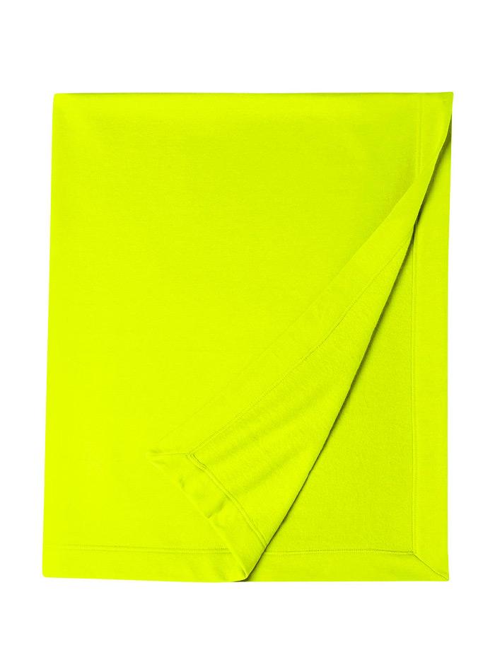 Měkká fleecová deka - Neonová žlutá univerzal