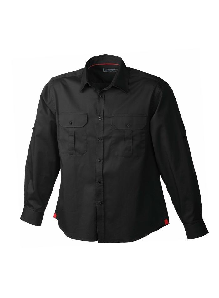 Pánská košile Travel - černá M