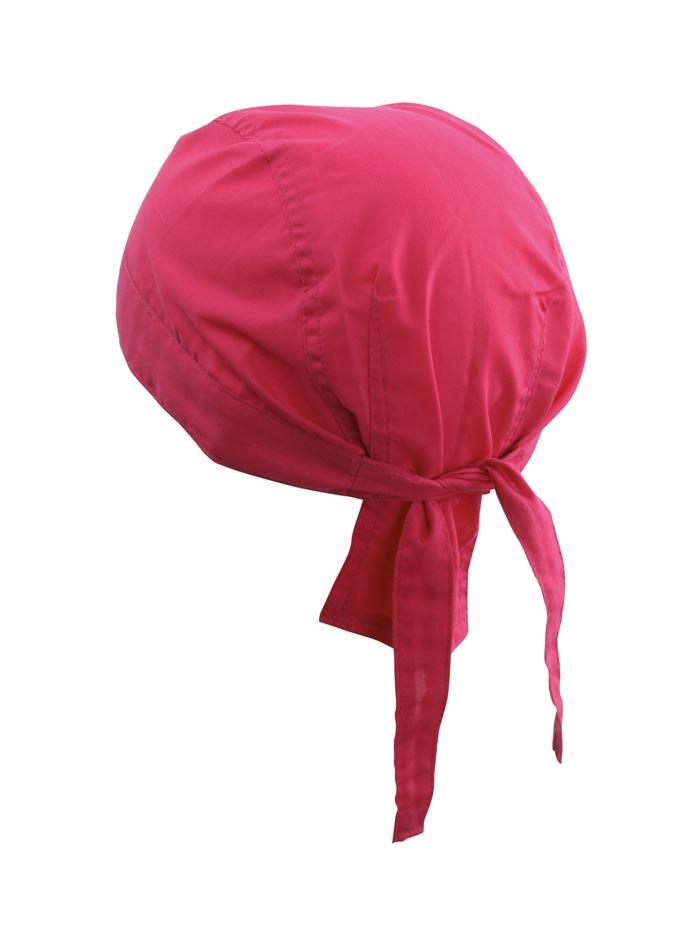 Šátek na hlavu - Sytě růžová univerzal