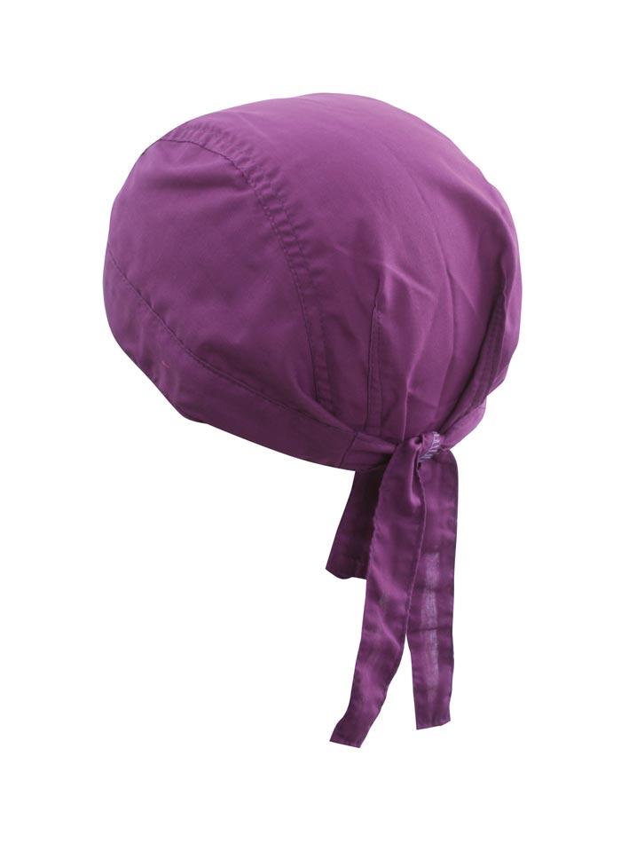 Šátek na hlavu - fialová univerzal