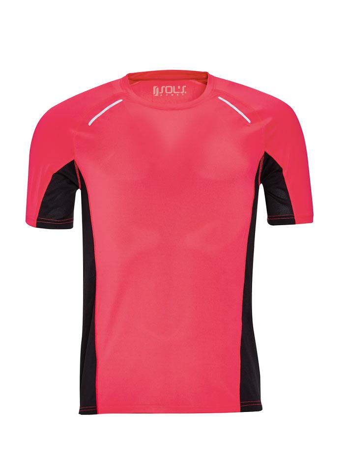 Pánské sportovní tričko Sydney - Neonově růžová S