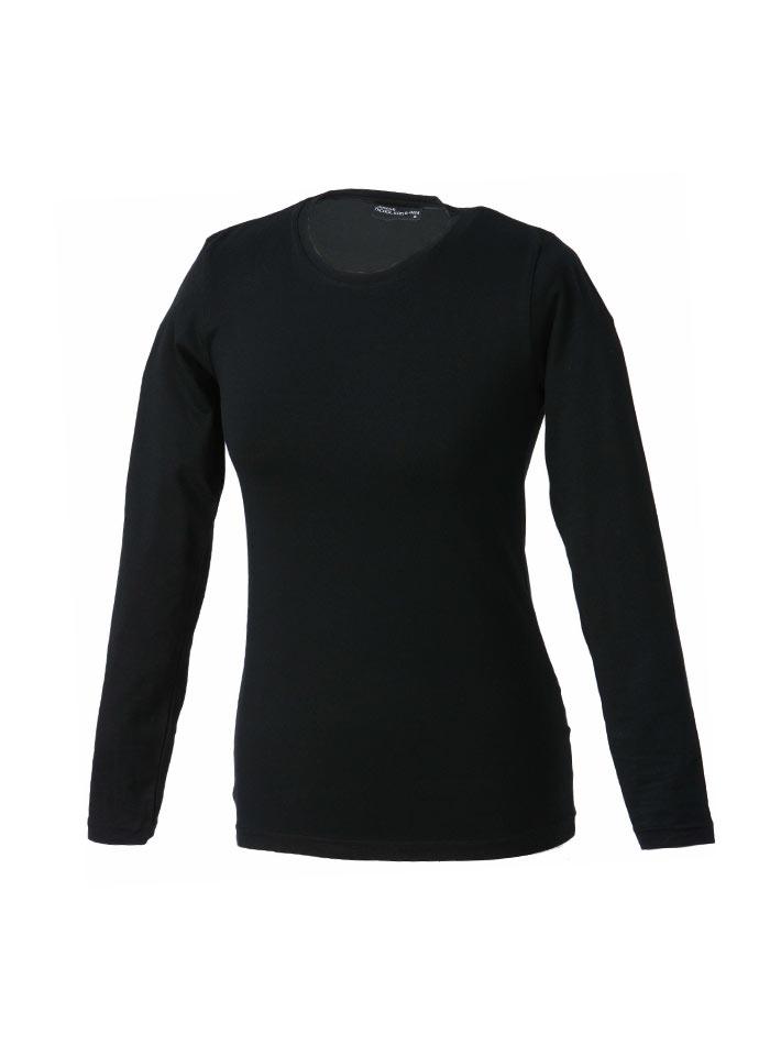 Dámské pružné tričko James & Nicholson - černá M