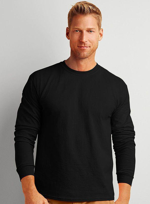 Pánské tričko s dlouhým rukávem Ultra - Silnější bavlněné tričko s ... 9bc4951ed4