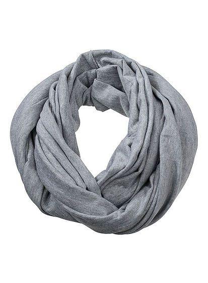 Hladký límcový šál
