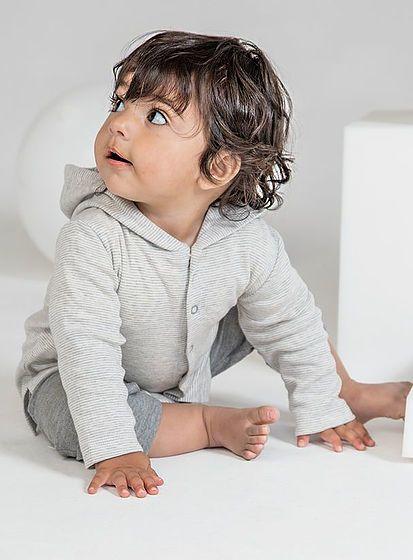 Detské pruhované tričko s kapucňou